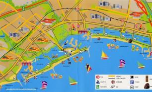 Køge Bugt Strandpark som med tidens store effektivitet realiserede i den sidste del af 1970´erne.