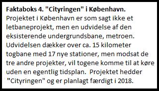 Faktaboks 4. Cityringen.